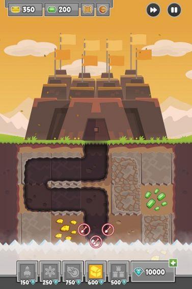 挖掘防卫者游戏截图3