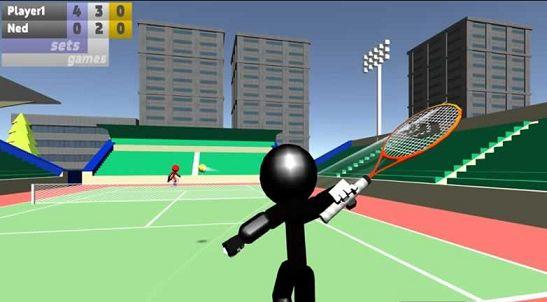 火柴人3D网球游戏截图2