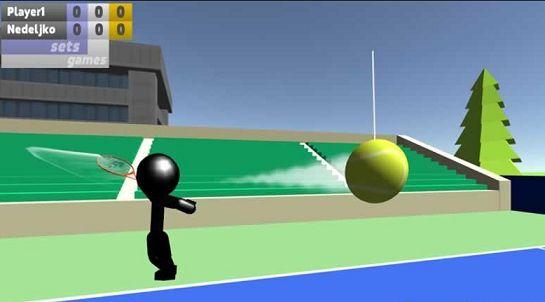 火柴人3D网球游戏截图1