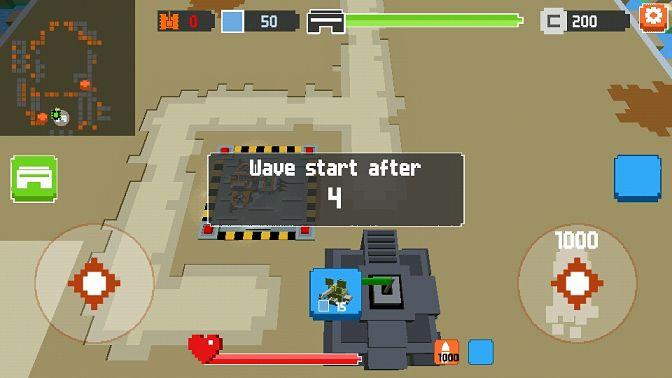 像素坦克塔防战争游戏截图1