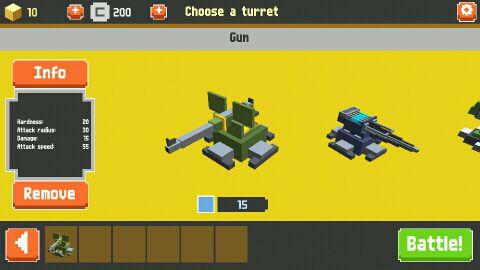 像素坦克塔防战争游戏截图2