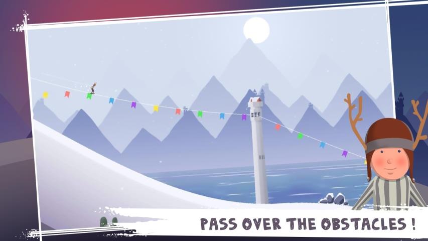 滑雪冒险游戏截图1