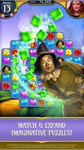 绿野仙踪:魔法匹配游戏截图2