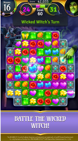 绿野仙踪:魔法匹配游戏截图1