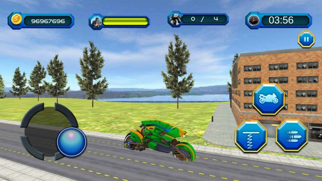 自行车转换机器人游戏截图2