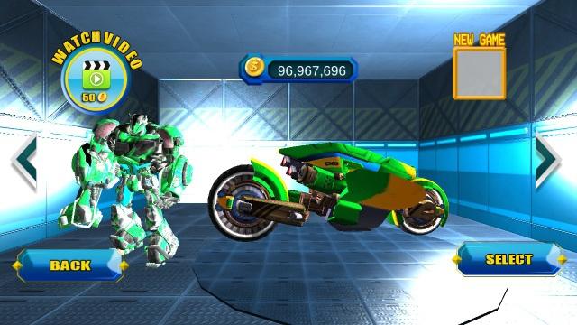 自行车转换机器人游戏截图3