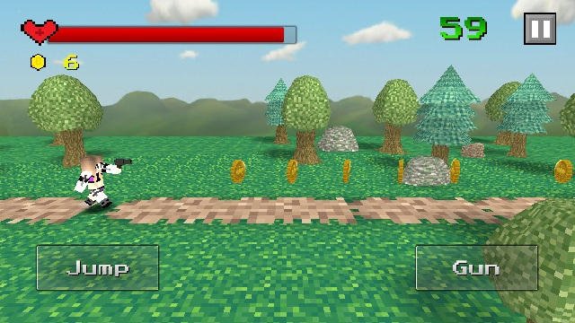 像素跑酷:狩猎游戏截图2