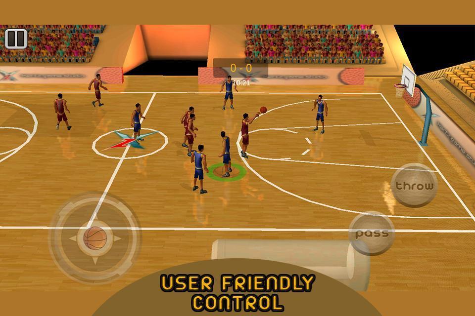 真正的3D篮球:全场对决游戏截图3